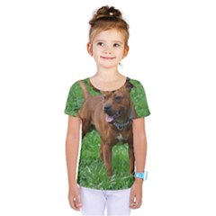 4 Full Staffordshire Bull Terrier Kids  One Piece Tee