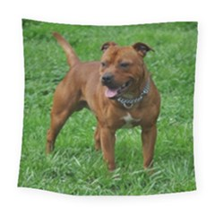 4 Full Staffordshire Bull Terrier Square Tapestry (large)