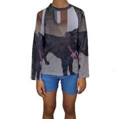 Bouvier Shaved Kids  Long Sleeve Swimwear