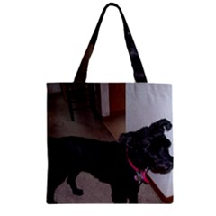 Bouvier Shaved Zipper Grocery Tote Bag