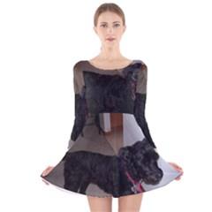 Bouvier Shaved Long Sleeve Velvet Skater Dress
