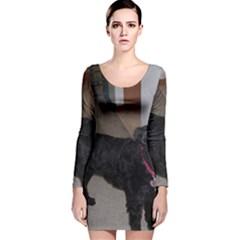 Bouvier Shaved Long Sleeve Velvet Bodycon Dress