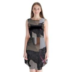 Bouvier Shaved Sleeveless Chiffon Dress