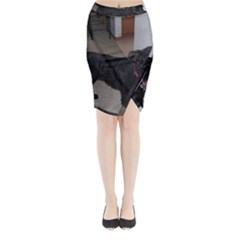 Bouvier Shaved Midi Wrap Pencil Skirt