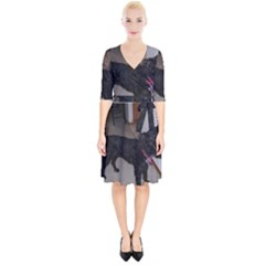 Bouvier Shaved Wrap Up Cocktail Dress