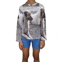 2 Anatolians Kids  Long Sleeve Swimwear