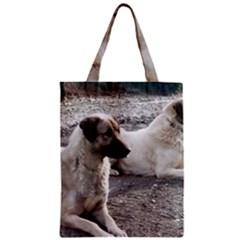 2 Anatolians Zipper Classic Tote Bag