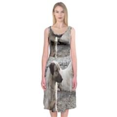 2 Anatolians Midi Sleeveless Dress