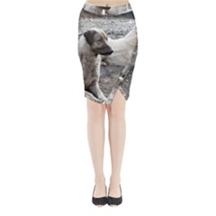 2 Anatolians Midi Wrap Pencil Skirt