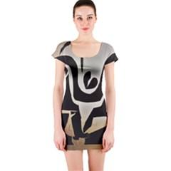 With Love Short Sleeve Bodycon Dress