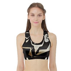 With Love Sports Bra With Border