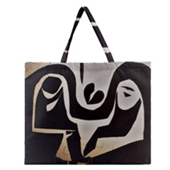 With Love Zipper Large Tote Bag