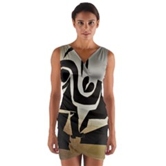With Love Wrap Front Bodycon Dress