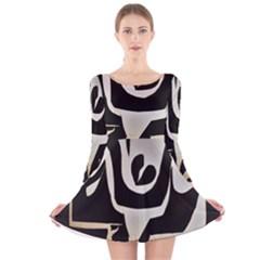 With Love Long Sleeve Velvet Skater Dress