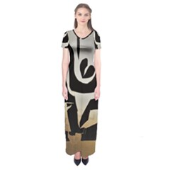 With Love Short Sleeve Maxi Dress