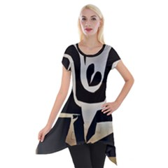 With Love Short Sleeve Side Drop Tunic