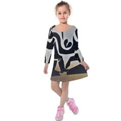 With Love Kids  Long Sleeve Velvet Dress