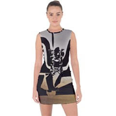 With Love Lace Up Front Bodycon Dress