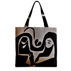 With Love Zipper Grocery Tote Bag