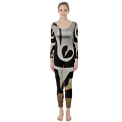 With Love Long Sleeve Catsuit