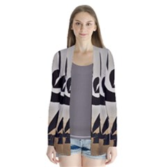 With Love Drape Collar Cardigan