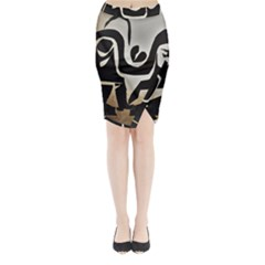 With Love Midi Wrap Pencil Skirt