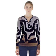 With Love V Neck Long Sleeve Top