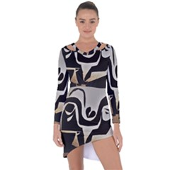 With Love Asymmetric Cut Out Shift Dress