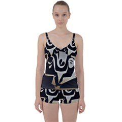 With Love Tie Front Two Piece Tankini
