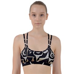 With Love Line Them Up Sports Bra