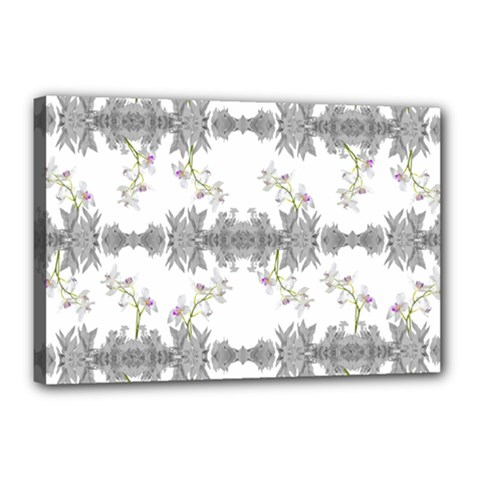 Floral Collage Pattern Canvas 18  X 12