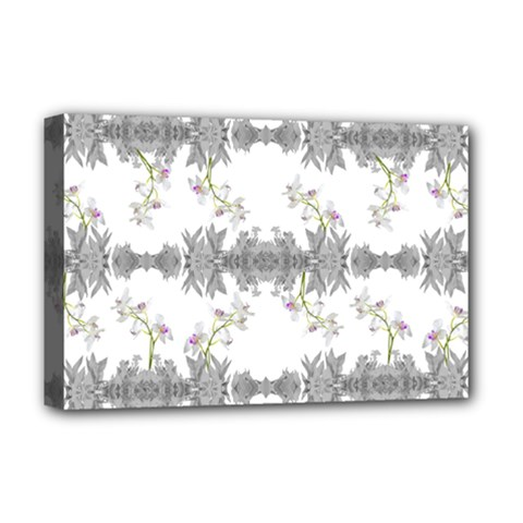 Floral Collage Pattern Deluxe Canvas 18  X 12