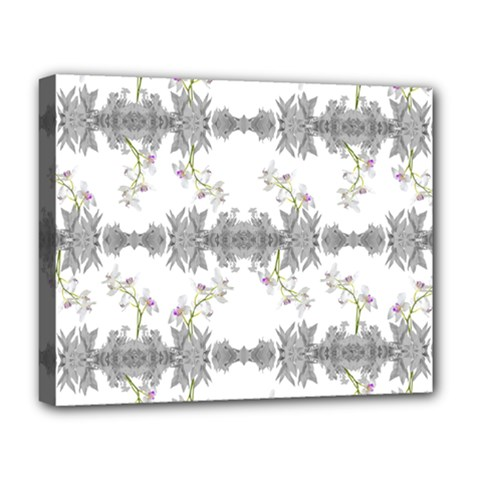 Floral Collage Pattern Deluxe Canvas 20  X 16
