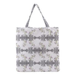 Floral Collage Pattern Grocery Tote Bag