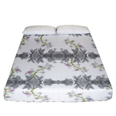Floral Collage Pattern Fitted Sheet (queen Size)