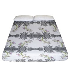 Floral Collage Pattern Fitted Sheet (california King Size)