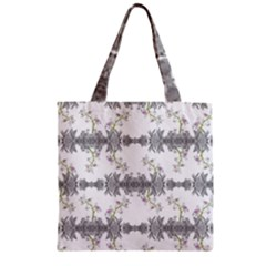 Floral Collage Pattern Zipper Grocery Tote Bag