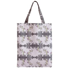Floral Collage Pattern Zipper Classic Tote Bag