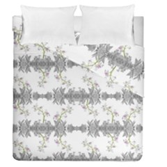 Floral Collage Pattern Duvet Cover Double Side (queen Size)