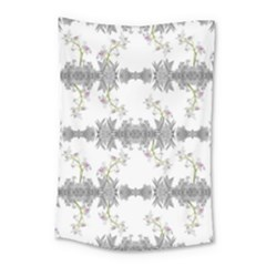 Floral Collage Pattern Small Tapestry