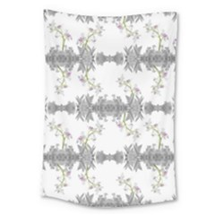 Floral Collage Pattern Large Tapestry