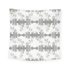 Floral Collage Pattern Square Tapestry (small)