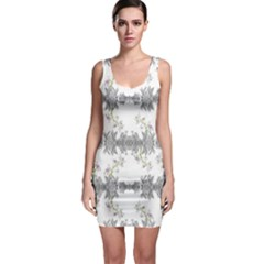Floral Collage Pattern Bodycon Dress