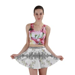 Floral Collage Pattern Mini Skirt