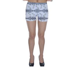 Floral Collage Pattern Skinny Shorts