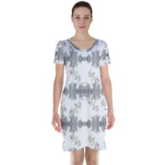 Floral Collage Pattern Short Sleeve Nightdress