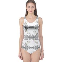 Floral Collage Pattern One Piece Swimsuit