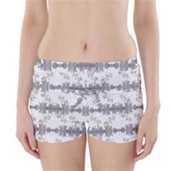 Floral Collage Pattern Boyleg Bikini Wrap Bottoms