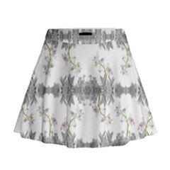 Floral Collage Pattern Mini Flare Skirt