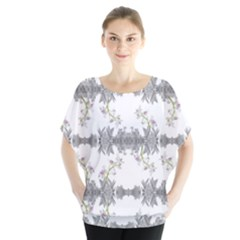 Floral Collage Pattern Blouse